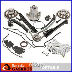 04-08 Ford Lincoln 5.4L 3V Timing Chain Kit Oil&Water Pump+VVT Gear+Cover Gasket