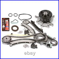 04-12 Dodge Jeep Ram 3.7L Timing Chain Water Pump Kit+Timing Cover Gasket Set