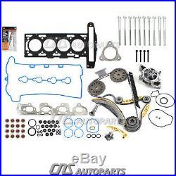 07-08 Chevrolet G5 HHR 2.2L Timing Chain Kit Bolts Water pump Head Gasket Set