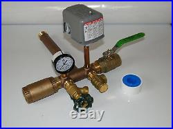 1 x 11 PRESSURE TANK TEE KIT + VALVES Water Well SQUARE D 40 60 FSG2 NO LEAD
