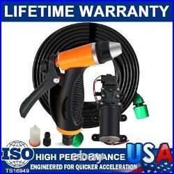 12V 80W High Pressure Self-Priming Electric Portable Wash Washer Kits Water Pump