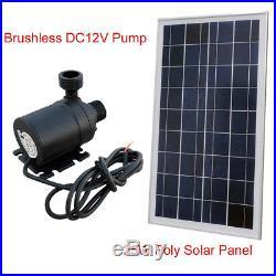 12V Solar Pump System Kit 25W Solar Panel & Hot Water Circulation Brushless Pump