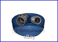 2 Flex Water Suction Hose Trash Pump Honda Complete Kit with50' Blue Disc