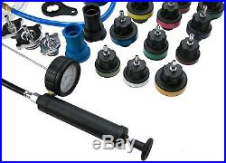 28PC Radiator Pressure Tester Water Pump Pressure Tester Coolant Refill Kit Set