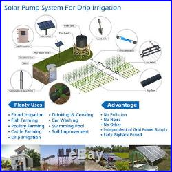 3 DC Deep Bore Well Solar Water Pump 110V 1.5HP Submersible MPPT Controller Kit
