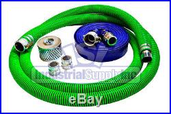 3 EPDM Trash Pump Water Suction FCAM x MP with50' Discharge Hose Kit
