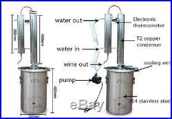 3 Gallon Alembic Copper Still Alcohol Distiller Kit withWater Pump Moonshine Still
