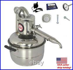 3Gal Home DIY Alcohol Wine Water Distiller Moonshine Still Boiler Kit with Pump