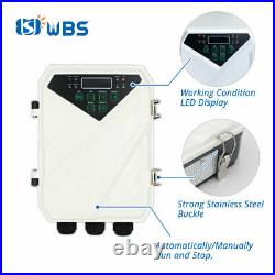 4 DC Deep Well Solar Water Bore Pump Kits 110V 2HP Irrigation Farm Submersible
