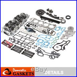 85-95 Toyota 2.4L Cylinder Head+Gasket Set+Bolts&Timing Chain Kit+Water Pump 22R