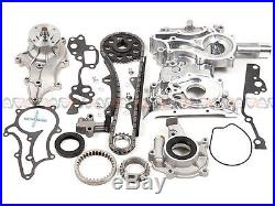 85-95 Toyota 2.4L Timing Chain Kit(Steel Guides)+Cover+Oil&Water Pump 22R 22RE