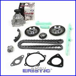 97-02 2.4L GM Chevy Oldsmobile Pontiac Twin Cam LD9 Timing Chain Set+Water Pump