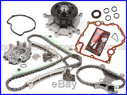 99-08 Dodge Jeep 4.7L Timing Chain Oil Pump Water Pump Kit+Cover Gasket -NO Gear