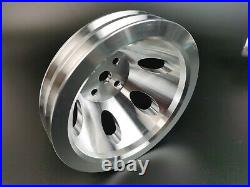 BBC SWP Aluminum Alternator Power Steering Water Pump Pulley kit Big Block Chevy