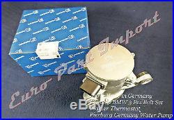 BMW Wahler Thermostat + Sensor + 3 Bolt kit + Pierburg Electric Water Pump OEM