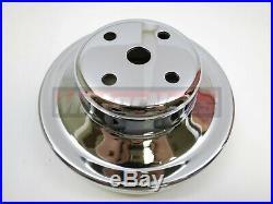 Big Block Chevy Chrome Water Pump Crankshaft Power Steering Pulley Kit Long Pump