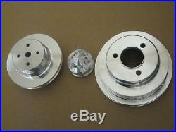 Big Block Chevy LWP Aluminum Water Pump Crankshaft Alternator Pulley Kit BBC