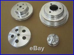 Big Block Chevy LWP Power Steering Water Pump Crankshaft Alternator Pulley Kit
