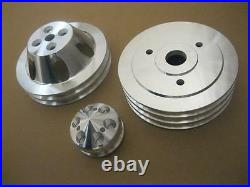 Big Block Chevy SWP Aluminum 2 3 Alternator Water Pump Crankshaft Pulley Kit BBC