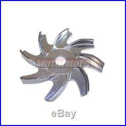 Billet Aluminum Small Block Chevy SBC 2 Groove Water Pump Crank Pulley Kit LWP