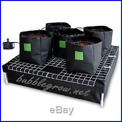 COMPLETE 5 BAG HYDROPONIC SYSTEM WATERING GROWING KIT & WATER PUMP FOR GROW TENT