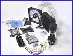 COMPUTER WATER COOLING KIT 120mm RADIATOR 140mm RESERVOIR PUMP CPU GPU BLOCK NEW