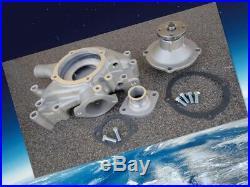 Cat Racing Mopar/dodge 361-440 Aluminum Water Pump+housing+thermostat Inlet Kit