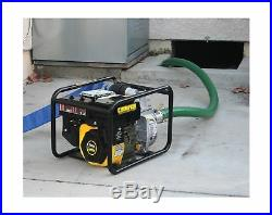 Champion Water Transfer Pump Gas Powered Semi Trash with Hose Wheel Kit 2 Inch New