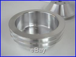 Chev Small Block 350 Billet Pulley Kit Long Pump, 2v Balancer, 1v Water Pump, Alt