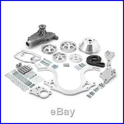 Chevy BBC 454 Polished Aluminum Serpentine Engine Pulley & Short Water Pump Kit