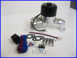 Chevy Polished Electric Water Pump 327 350 383 400 High Volume + Relay Kit SBC