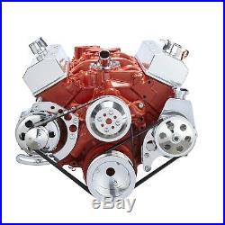 Chevy Small Block Serpentine Conversion Kit 283 302 305 350 400 Long Water Pump