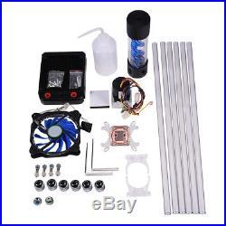 DIY PC Water Cooling Kit 120mm Radiator Pump Reservoir CPU Block Rigid Tubes