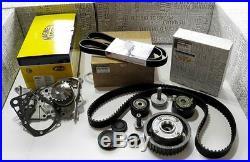 Dephaser Pulley & Timing Belt Kit & Water Pump & Auxiliary Belt Renault 1.6 16v