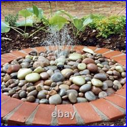 Direct Global Trading Pebble Fountain Water Feature Kit with Reservoir and Pump