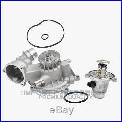 Engine Water Pump Thermostat Kit BMW 550i 650i 750i 750Li X5 4.8i (2pcs) New