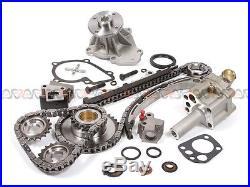 Fit 98-04 Nissan Frontier Xterra 2.4 DOHC Timing Chain Water&Oil Pump Kit KA24DE
