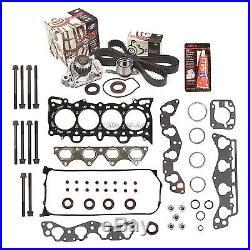 Fit Head Gasket Bolt Set Timing Belt Water Pump Kit 96-00 Honda 1.6 D16Y5/Y7/Y8