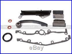 Fit Nissan Sentra 200SX NX1600 1.6L GA16DE DOHC Water Oil Pump Timing Chain Kit