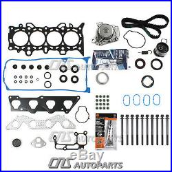 Fits 01-05 1.7 Honda Civic DX LX Head Gasket With Bolts Timing Belt Water Pump Kit