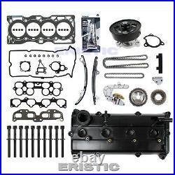 Fits 02-06 Nissan 2.5L Head Gasket Bolt Set & Timing Kit Water pump Valve Cover