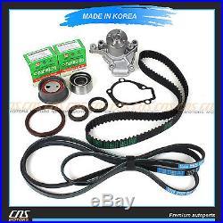 Fits 02-08 Hyundai Elantra Tiburon 2.0L G4GF Timing Belt V-Belt Kit & Water Pump