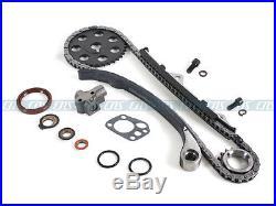 Fits 89-97 2.4L Nissan 240SX D21 Pickup Timing Chain Kit Water & Oil Pump KA24E