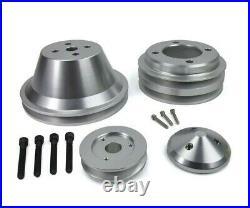 Fits Ford SBF 302 V-Belt Pulley Kit Alternator Water Pump Crankshaft 2V Groove