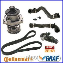 For BMW E46 3-Series Cooling System Kit Water Pump Therm. Upper Lower Hoses Belt