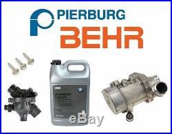 For BMW Electric Engine Water Pump OEM Thermostat 3-Bolt KIT Antifreeze Genuine