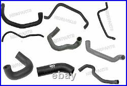 For BMW e30 325 early Coolant Hose KIT 9pcs Radiator Heater Water Pump Line Pipe