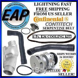 For E36 BMW 323I 323is 325I 325is 328I 328is M3 6Pc Cooling Kit w Water Pump NEW