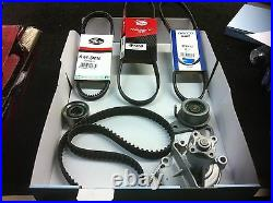 For Hyundai Coupe 2.0 Timing Belt Kit Water Pump Auxiliary Ac Power Steering