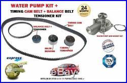 For Mitsubishi Evo 4 5 6 7 8 Turbo 4g63 1996- Timing Belt Kit + Water Pump Kit